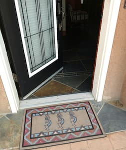 Front Door Entrance with ramp directly from parking area at door
