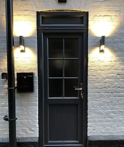 Sensor lights to front door (remember to leave switch on)