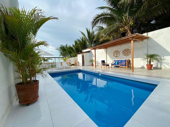 Casa de Playa Chiki's House -frente al mar