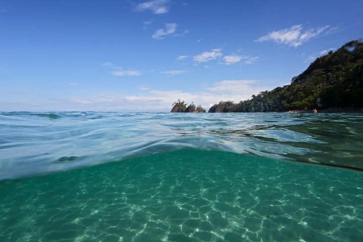 Ocean View Apt in Punta Leona, direct beach access