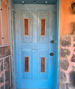 "One step up to doorway.  36"" wide."