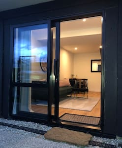 We have outdoor lighting which makes it very easy to see the access