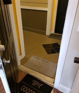 Door entering the Suite measures 36 inches wide