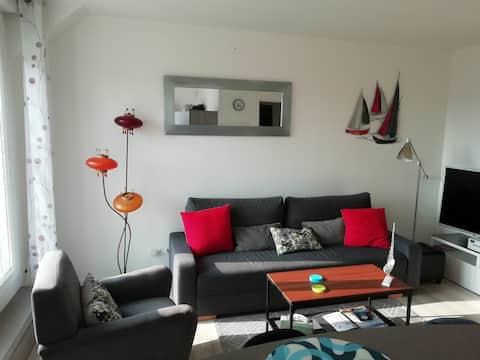 Appartement très proche de la mer avec terrasse