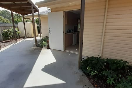 Door access from carport - flat entrance, no steps.