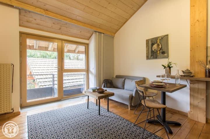 Studio loft dans une ferme rénovée, Thônes, Annecy