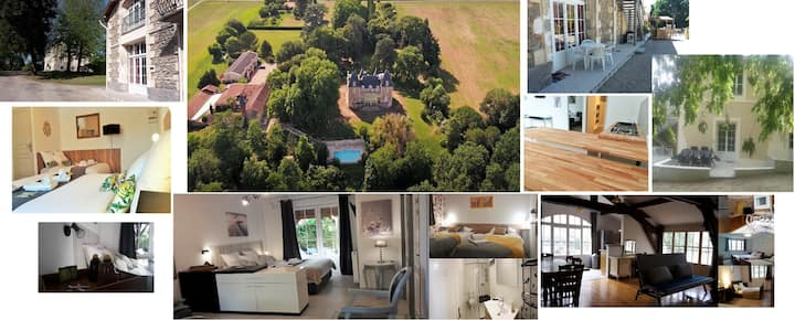 Gite T2 55 m² avec terrasse priv. et accès piscine