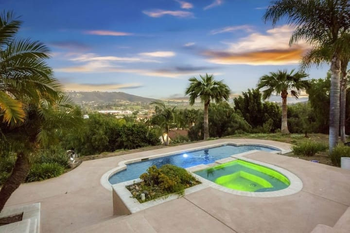 Hillside 2/2 Subdivided Home w/ Pool and Views!