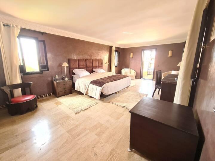Ganse Riad-Villa in Palmeraie met privé zwembad
