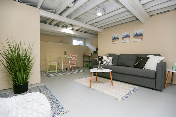 Unwind in the spacious Living Area complete with a sleeper sofa that can sleep 2 extra guests!