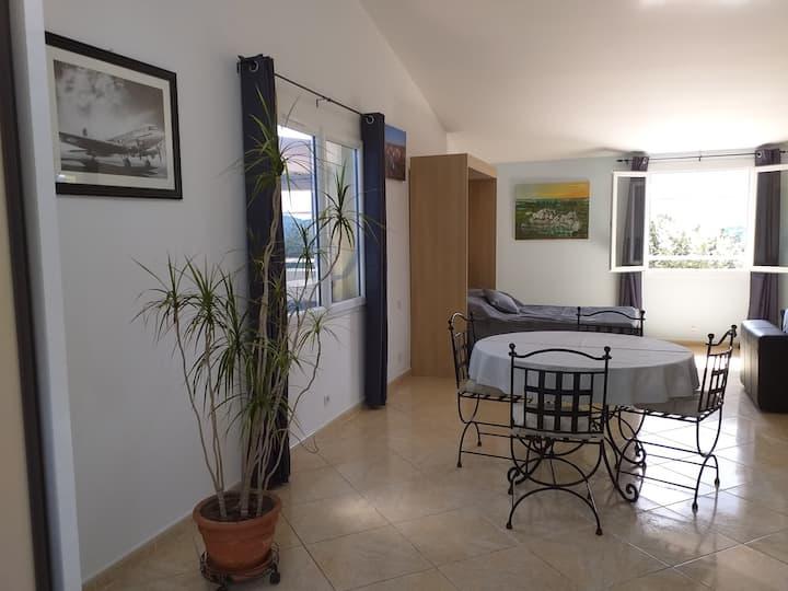 Agreable et lumineux loft  individuel a l'étage