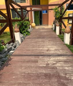 Entrance to the door of the Resort.