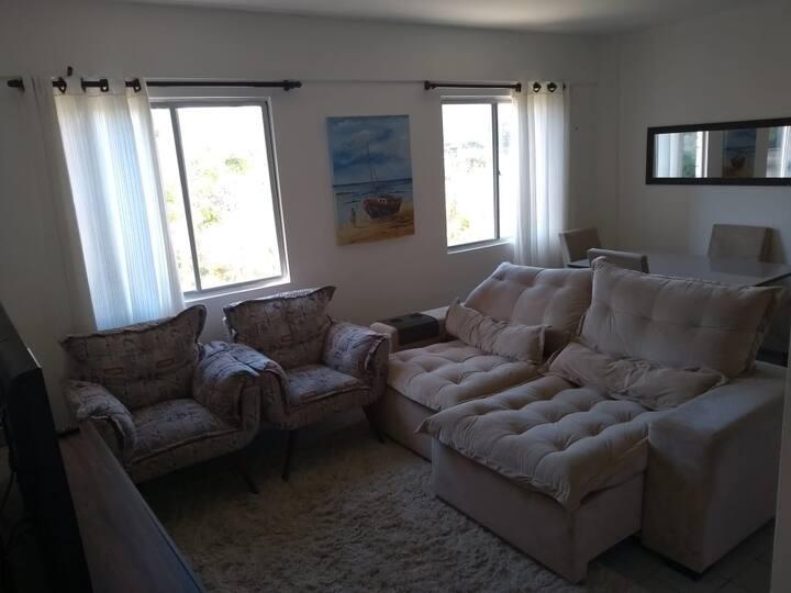 Apartamento em Ponta Negra, a 5 minutos da praia.