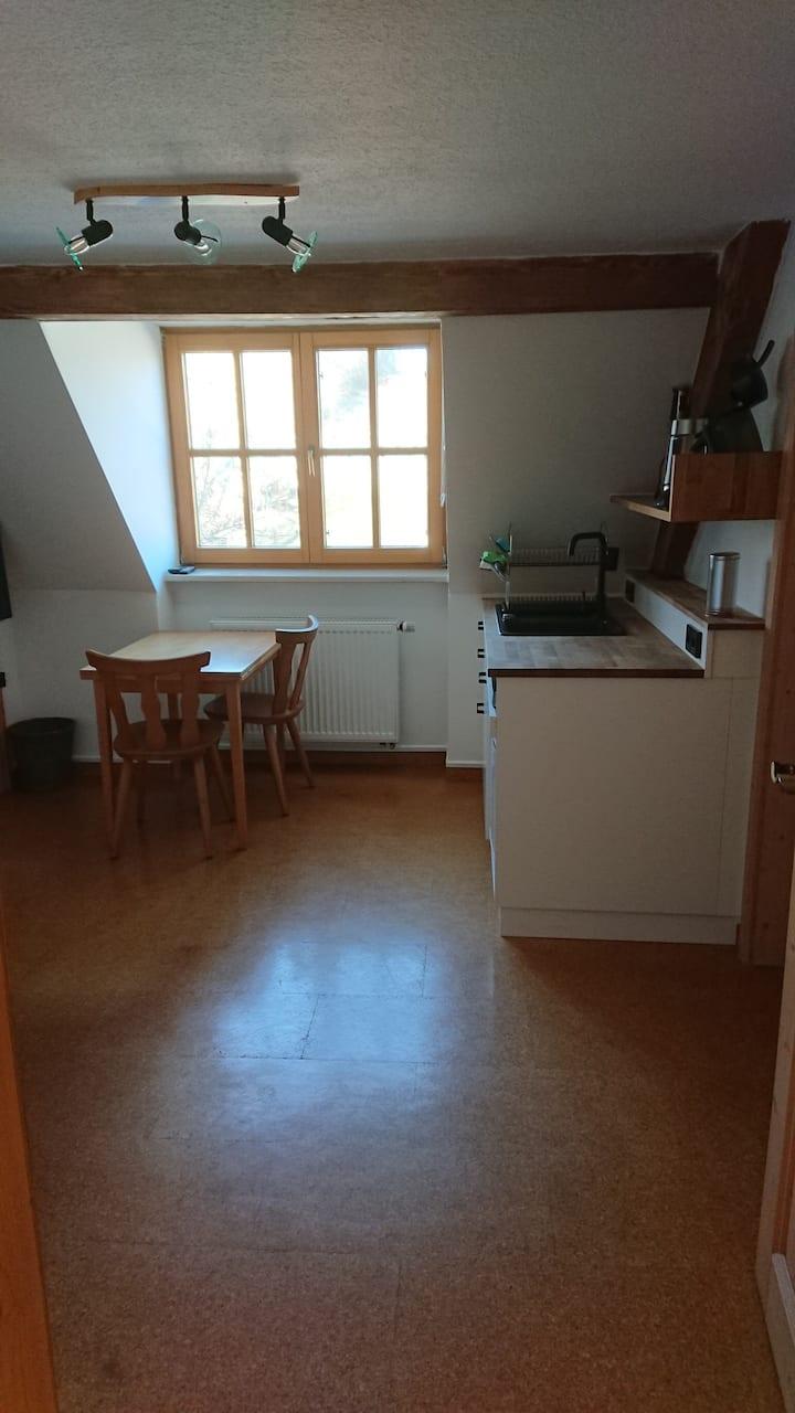 Gästezimmer mit Küche auf Biolandhof