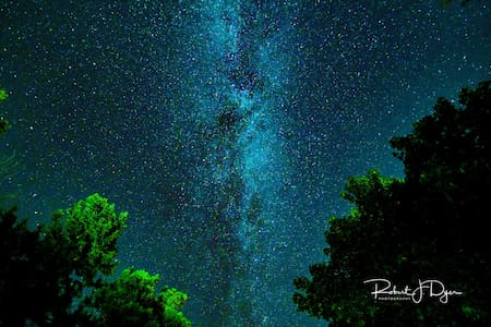 Enjoy brilliant starry nights on the Kettle River