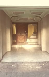 entrance to apartment building