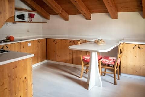 Appartamento rustico nel cuore delle Dolomiti