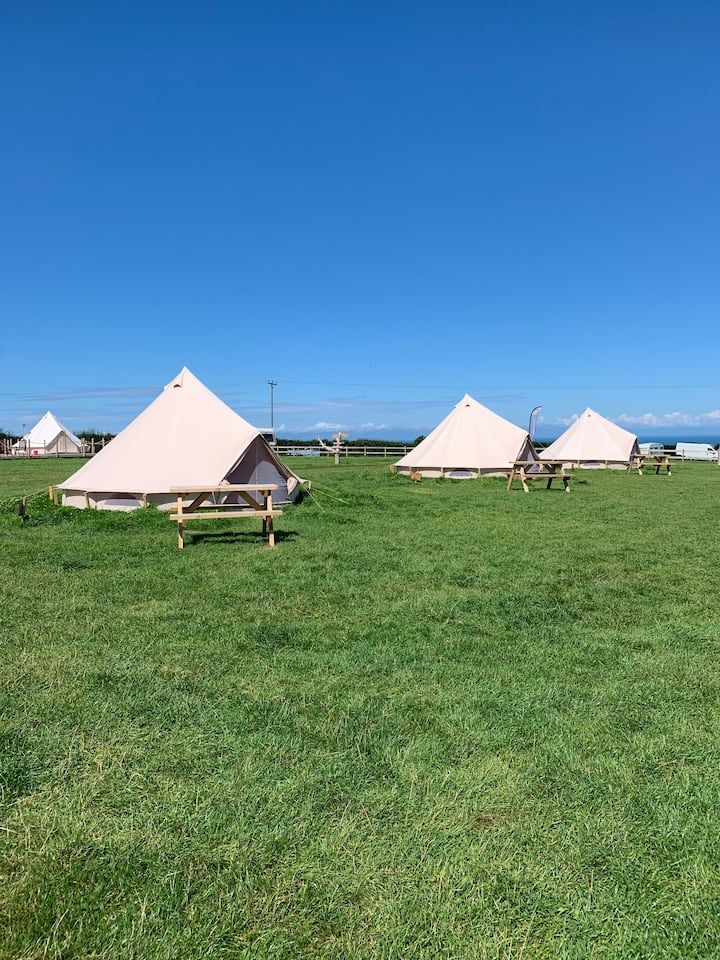 Bell tent camping in North Devon - #4.