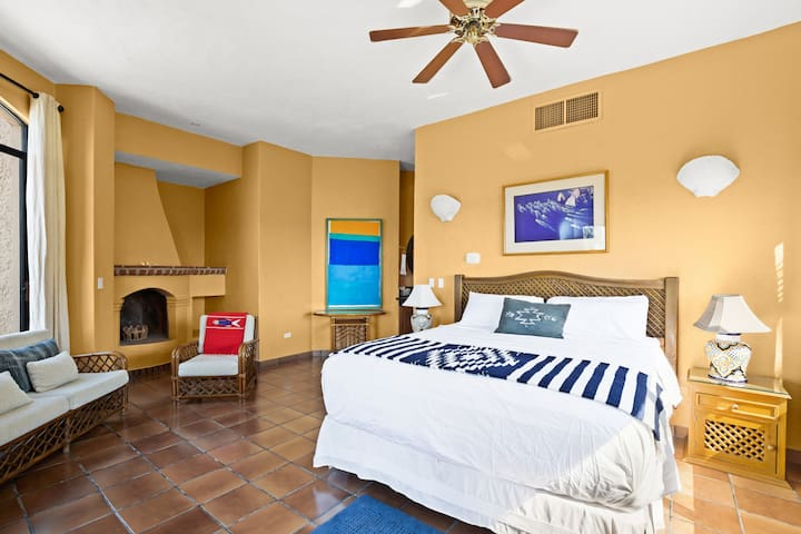Second Kind-Bed Master Suite opens straight out the the view and the pool! No bedrooms share walls, which creates a lovely sense of privacy! (Every room has an ensuite full bath, as well!)