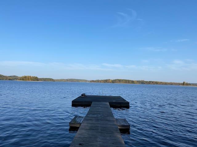 Cottage on the shores of Lake Saimaa