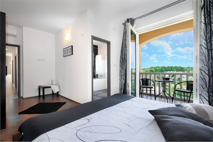 Last bedroom on the 1st floor with a great view of nature around.
