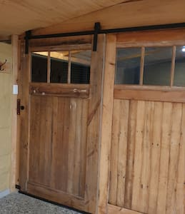 Extra wide sliding entry door for easy access.