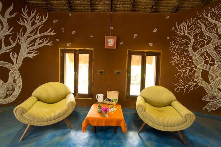 Viha - Earth Built Room at Art Village Karjat
