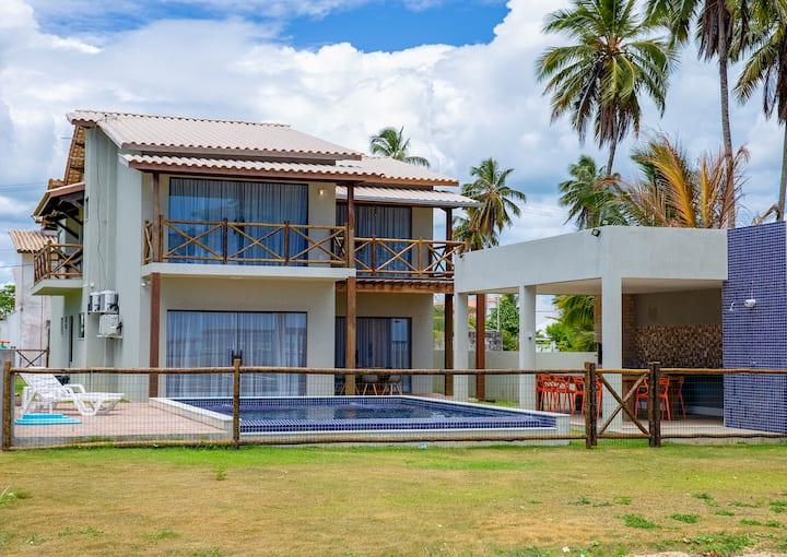 Casa espetacular em frente ao mar, alto luxo!