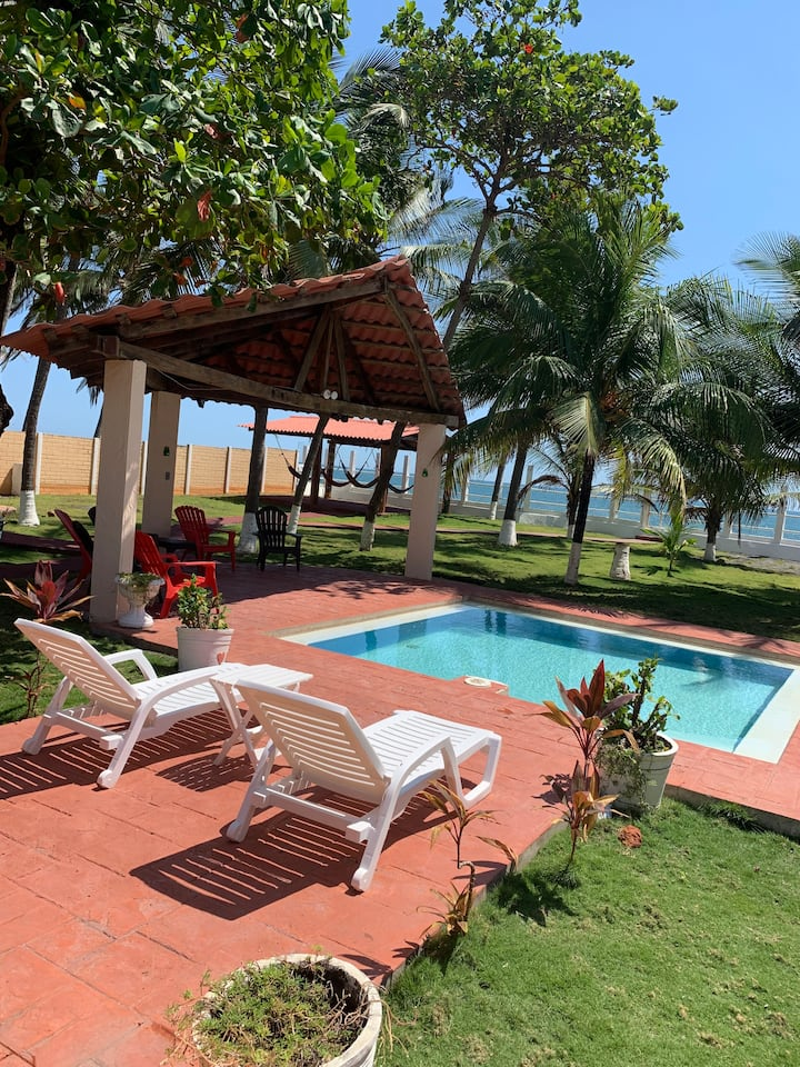 private beachfront villa 15 mints from airport/