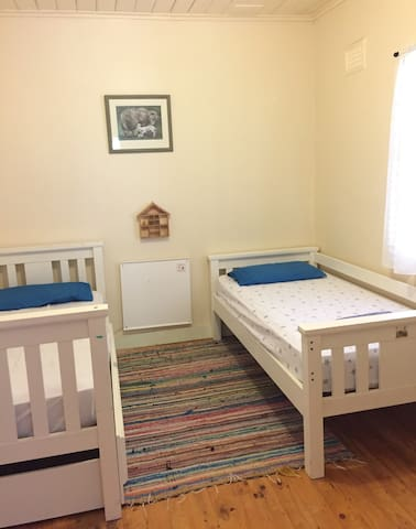 The lamb Bedroom : 2 individual beds and one wardrobe