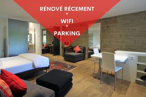 ❤Studio rénové à Tannay, parking et wifi gratuit❤