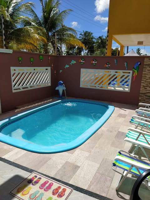 Cozy duplex with swimming pool at Antunes Beach