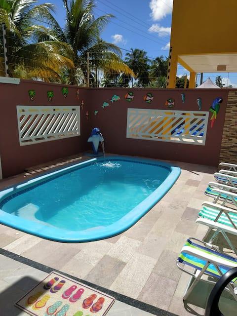 Aconchegante duplex c/ piscina na Praia de Antunes