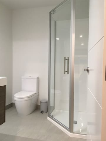 Your own private shower and bathroom complete with a lock on the door.