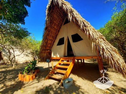 Ecological cabin on the beach. Boca del Cielo
