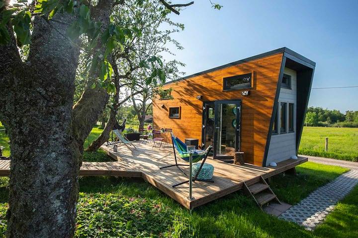 Tiny House 1 étoile ,Sauna, trottinette, Vosges.