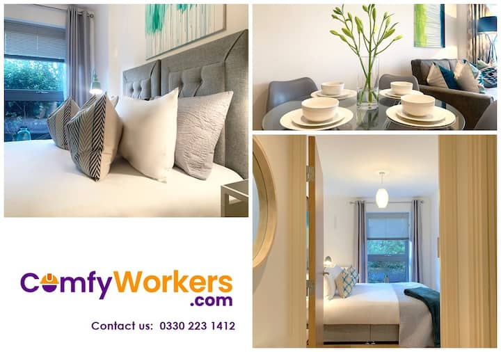 Stevenage★Big Apartment★Parking by Comfy Workers