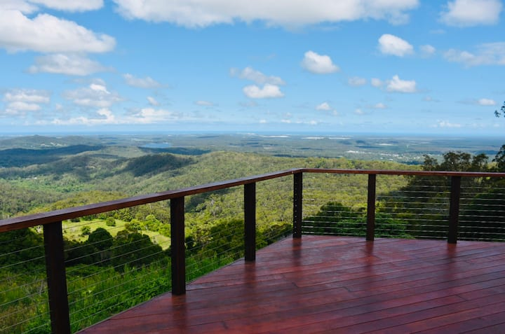 Now open! Unbelievable views!Just 6 mins to Maleny