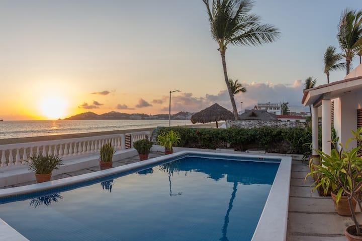 Autentica casa de playa con alberca