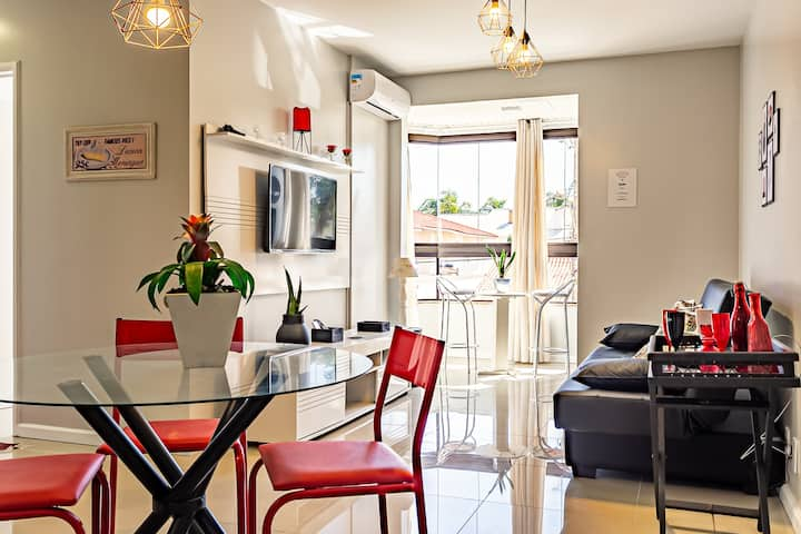 Jurerê Open Shopping apartment w/ barbecue CDS106