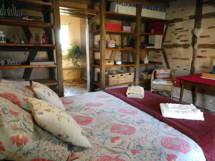 Chambre à la campagne en Bresse proche Mâcon
