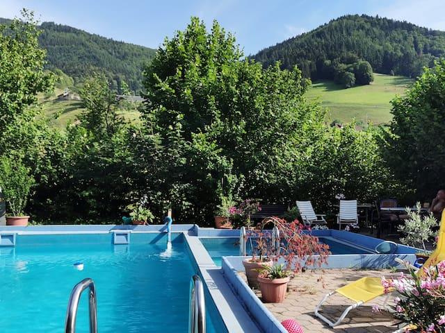 Direkt am Wanderweg, Schwarzwald, mit Pool