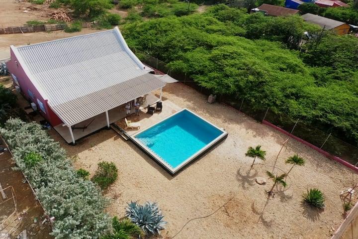 Kaya Caribe, Kunuku Bieuw - Nort Salina - zwembad