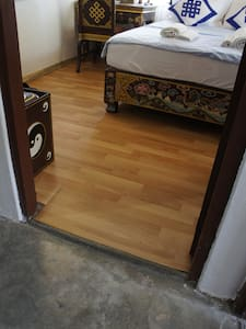 Entrance to the guest room through our corridor.