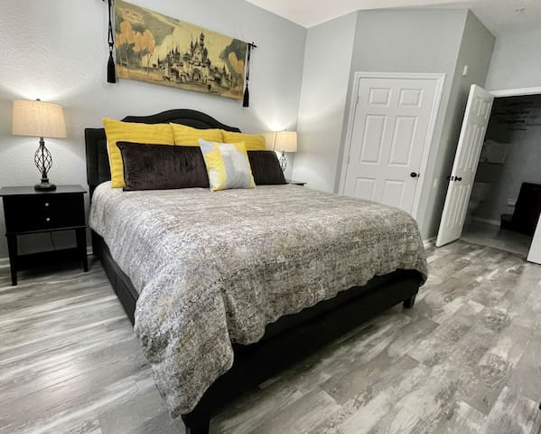 Master Suite with King Bed and Designer bedding