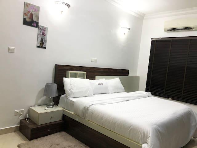 Bedroom 3 (white bedspread)