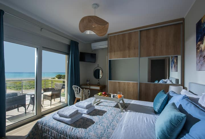 DIONE VILLA - on the beach with a sea view