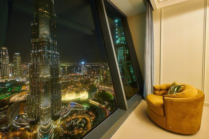 Luxurious Burj Khalifa & Fountain Designer 3 Bed