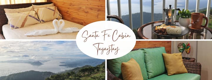 Santa Fe Cabin Tagaytay w/ Taal Lake View+Parking