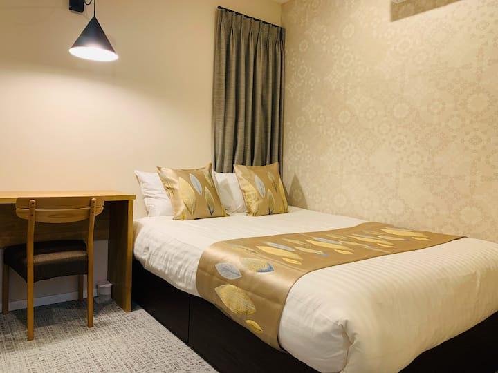 新宿 IGO HOTEL  2020全新完工 甜蜜大床房系列 JR地鐵3-6分鐘 A1